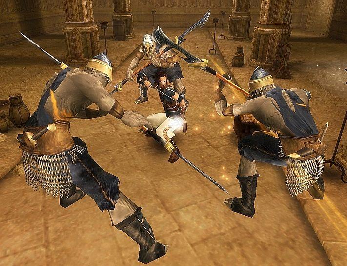 Prince of Persia Piaski Czasu walka z grupą przeciwników