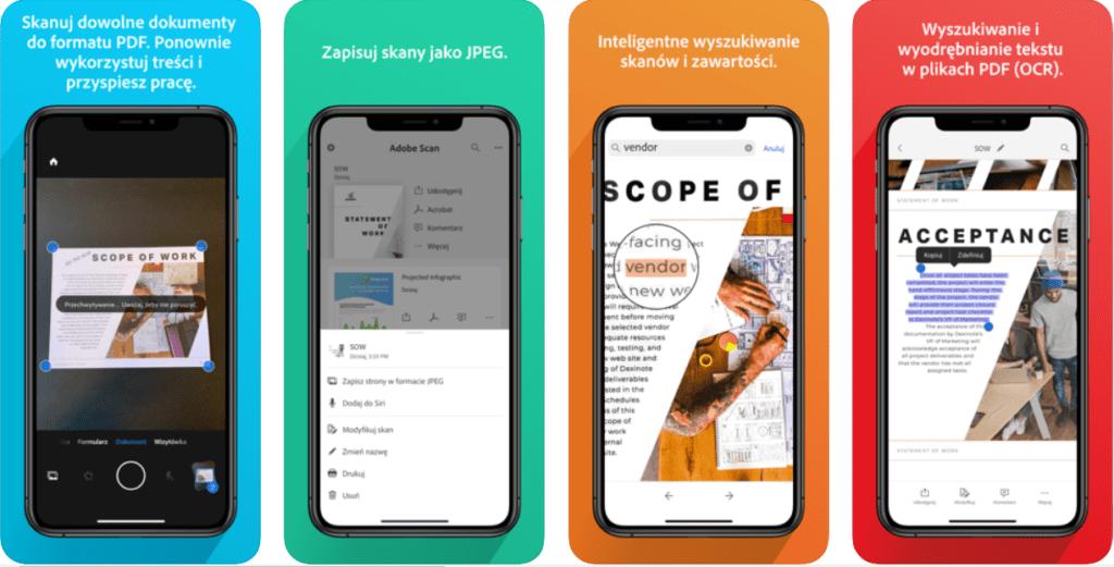 aplikacja adobe scan pdf