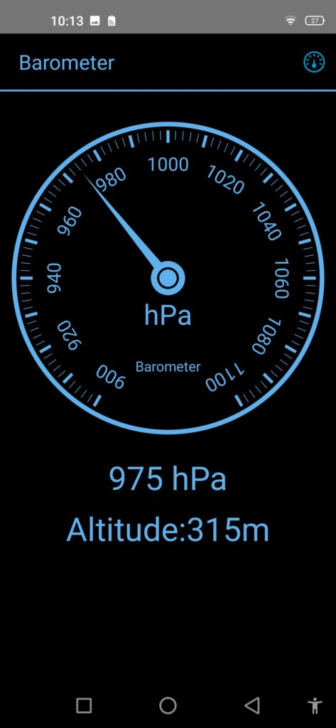 barometr oukitel wp7 aplikacja