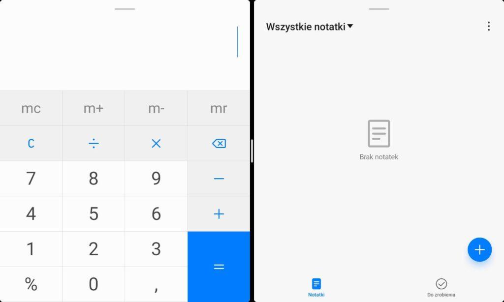 dzielenie ekranu w Huawei MatePad