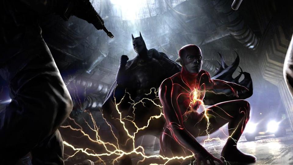 flash batman dc michael keaton