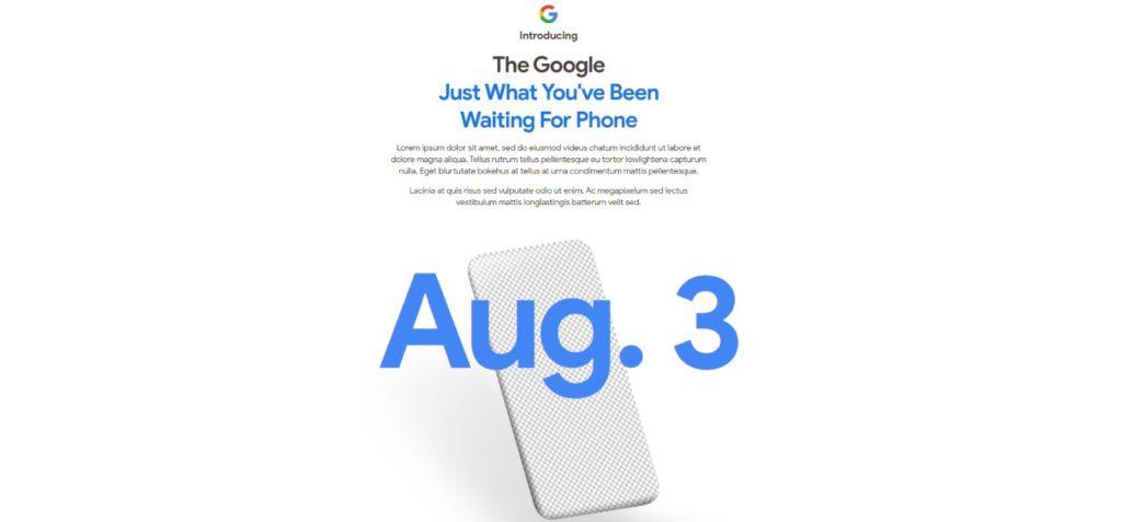 google pixel 4a zapowiedź
