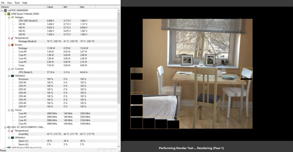 hw monitor cinebench r20 matebook d15