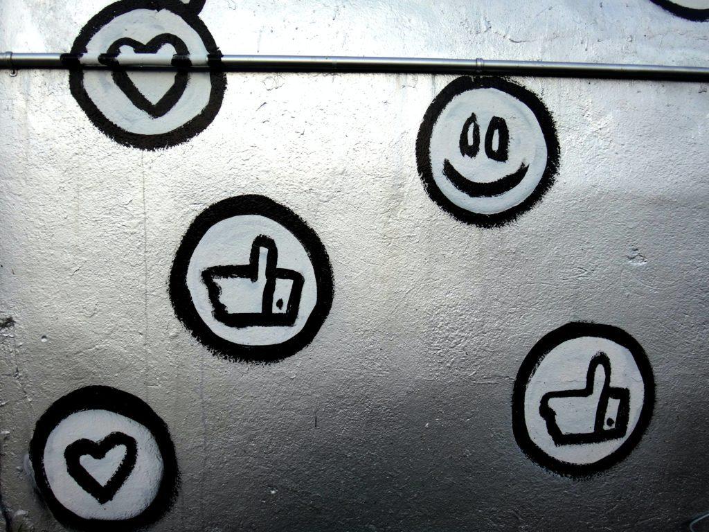 social media emoji graffiti