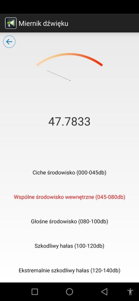 miernik hałasu oukitel wp7 aplikacja