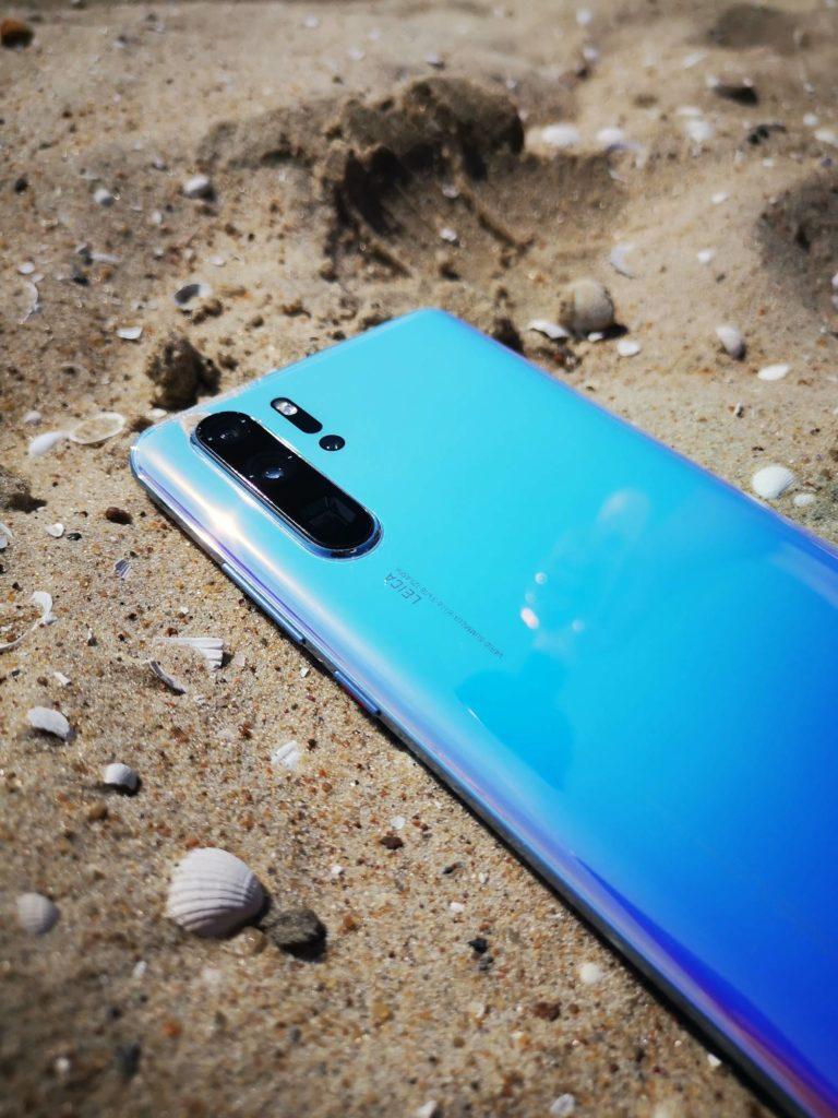 Huawei P30 Pro zdjęcie na plaży