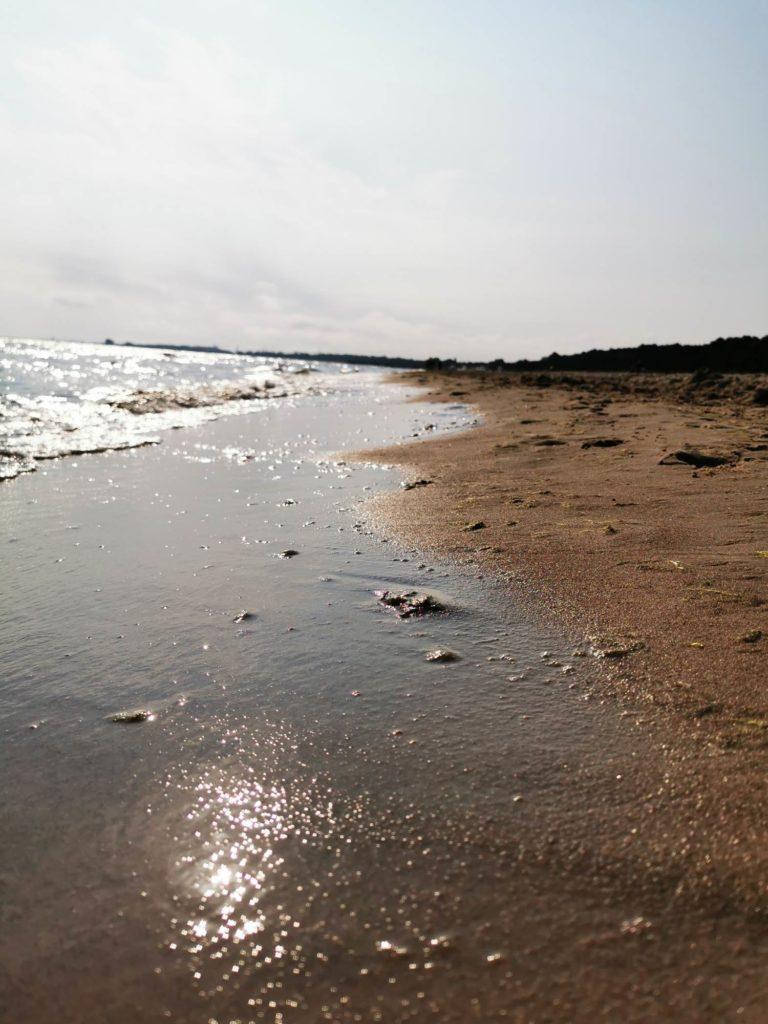 P30 Pro zdjęcie pod słońce morski brzeg