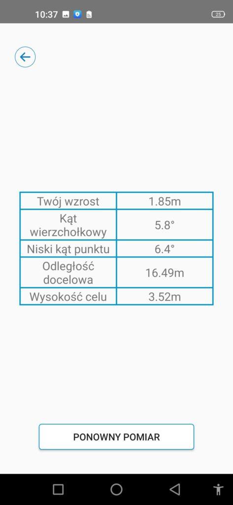 pomiar wysokości oukitel wp7 aplikacja