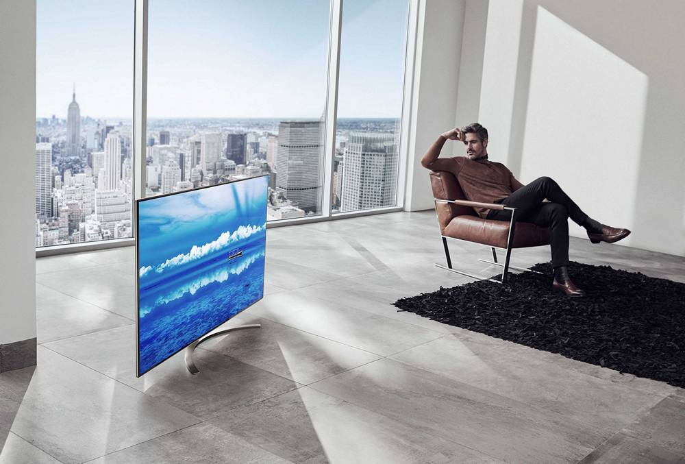 telewizor lg w salonie