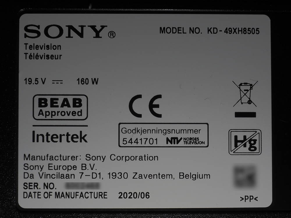 model telewizora