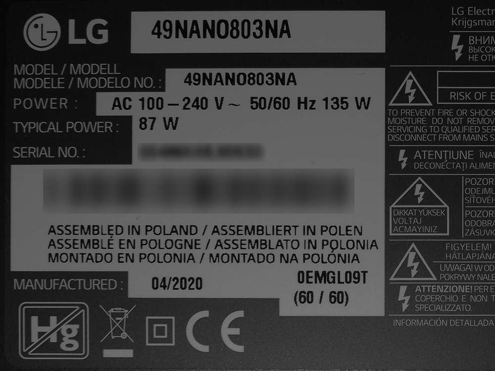 telewizor LG 49NANO803NA