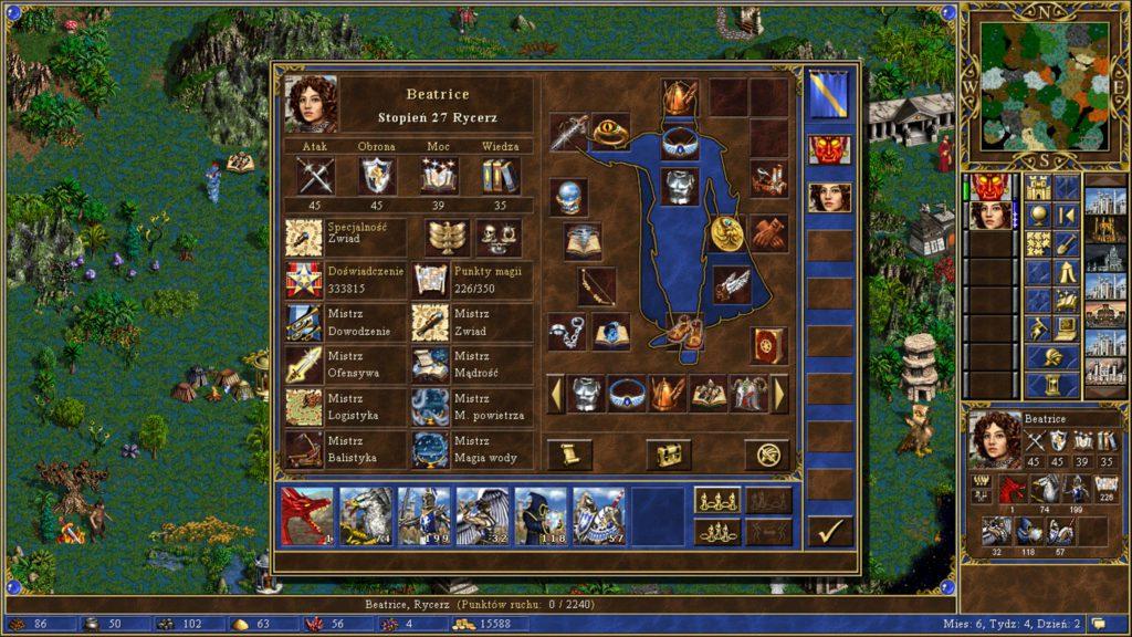 Heroes of Might & Magic 3 artefakty i ekwipunek bohatera