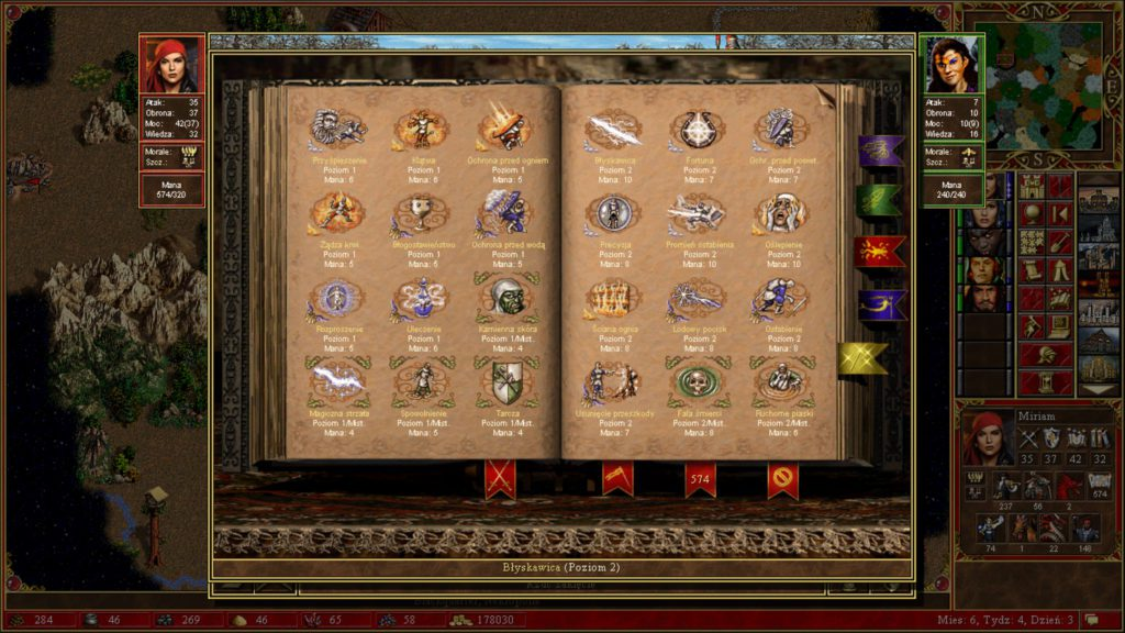 Heroes of Might & Magic 3 czary podczas walki