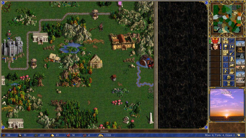 Heroes of Might & Magic 3 eksploracja terenów wokół zamku