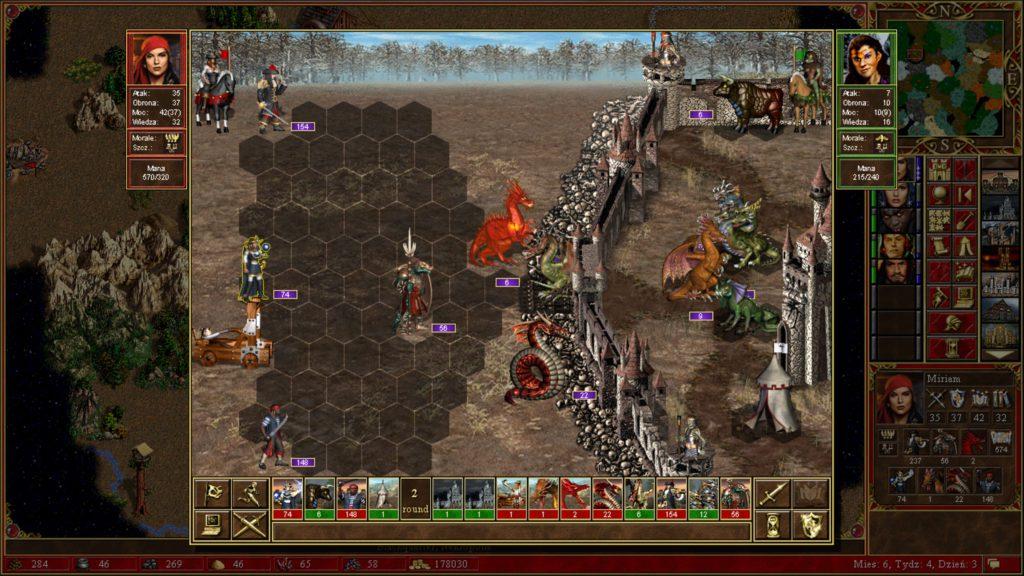 Heroes of Might & Magic 3 podbijanie zamku i wygrana