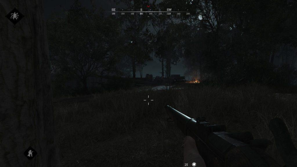 Gra Hunt Showdown walka w środku nocy
