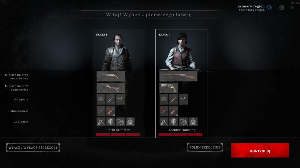 Gra Hunt Showdown wybór pierwszej postaci