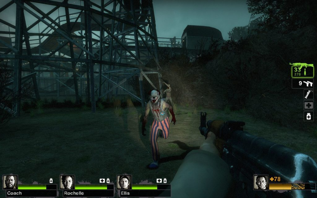 Left 4 Dead 2 zombie klauny