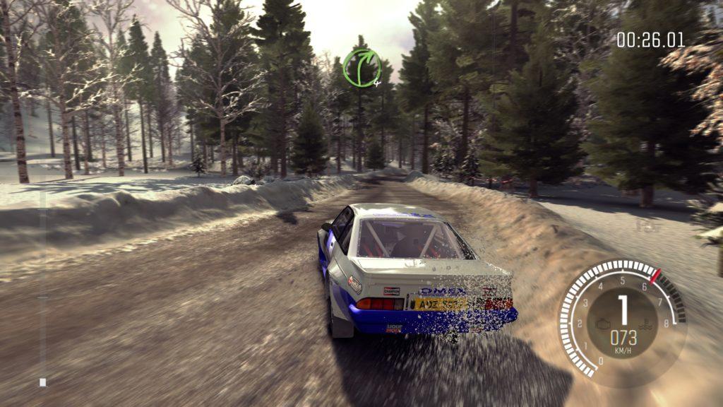 Logitech G923 Dirt Rally rajd w śniegu