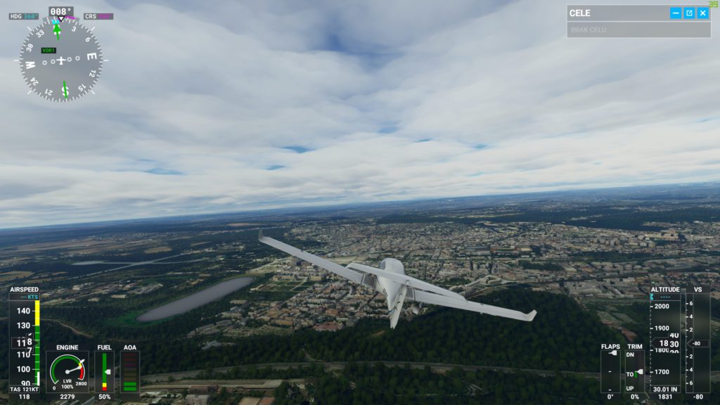 Screenshot Microsoft Flight Simulator 2020 Japonia i interfejs
