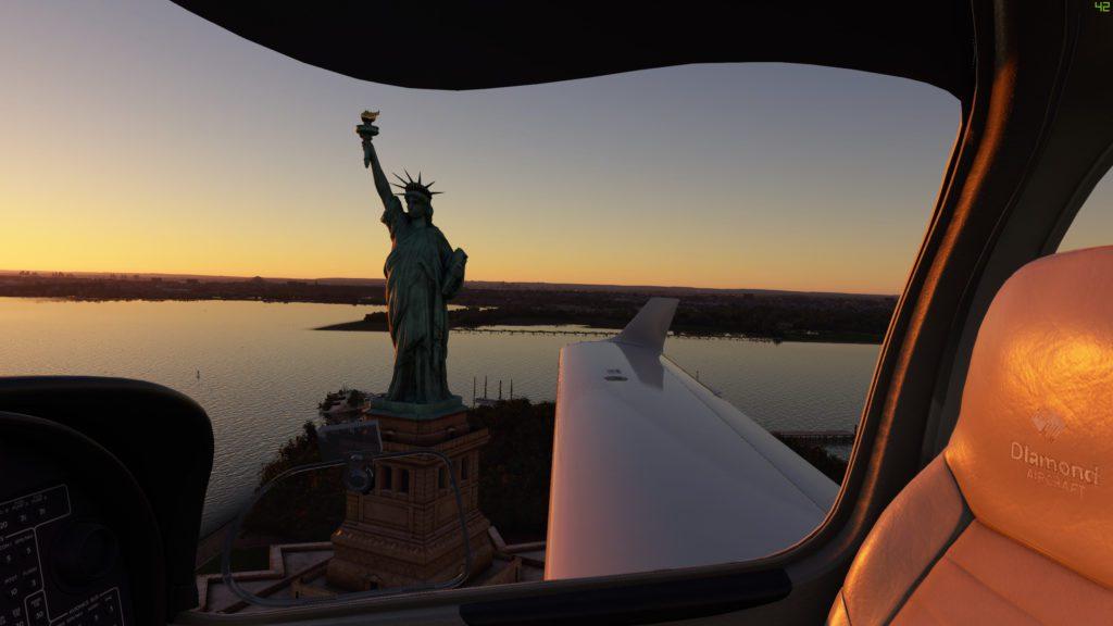 Microsoft Flight Simulator 2020 Statua Wolności