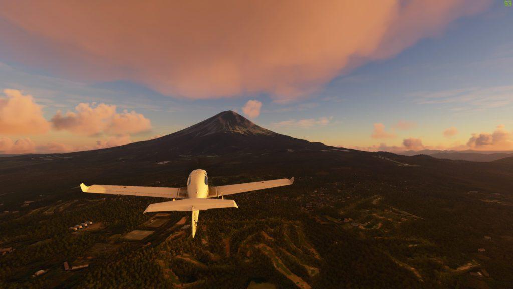 Microsoft Flight Simulator 2020 Wulkan Fuji Japonia