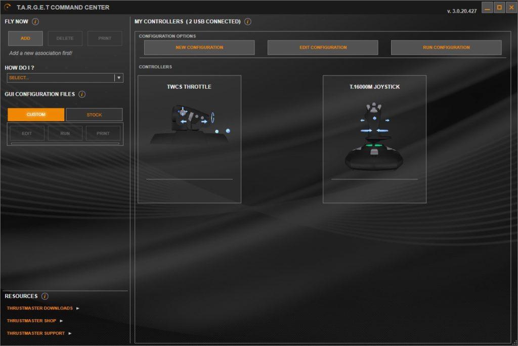Oprogramowanie TARGET GUI główna strona