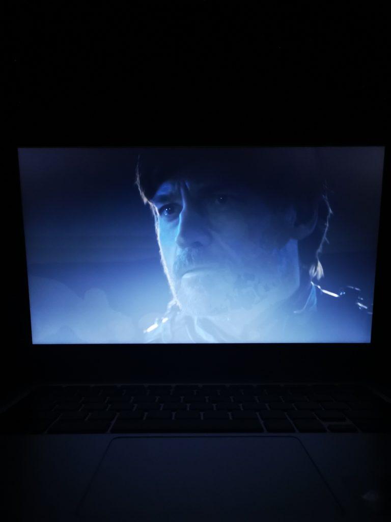 Chromebook CB314 obraz w nocy