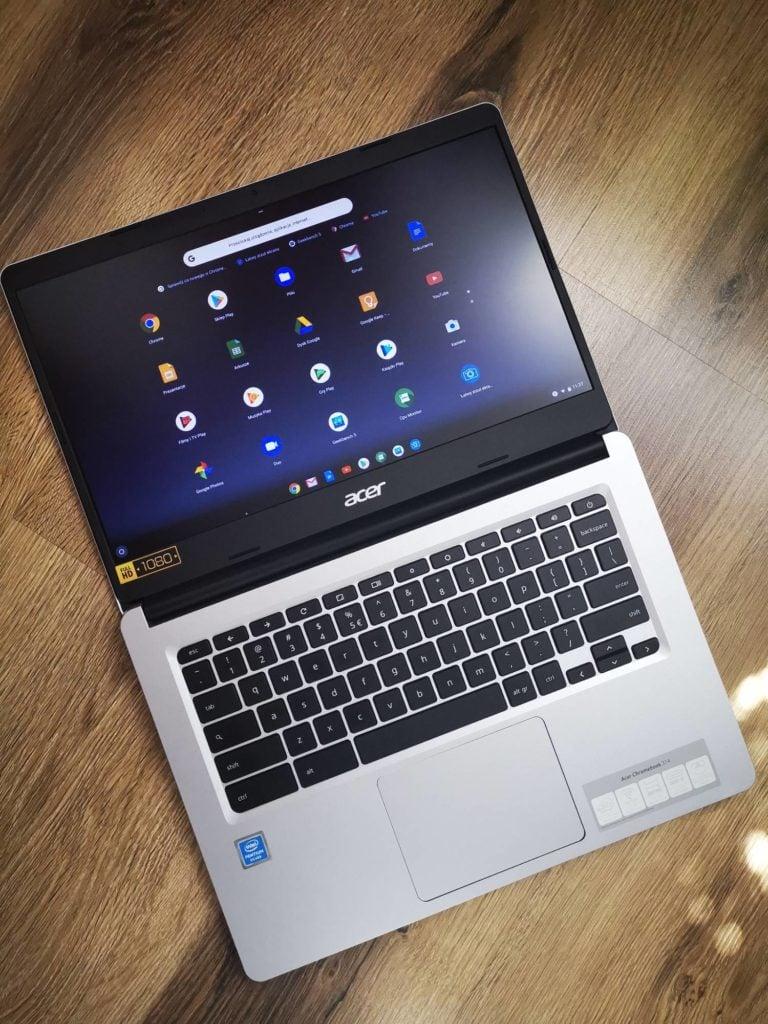 Acer Chromebook 314 otwarta pokrywa