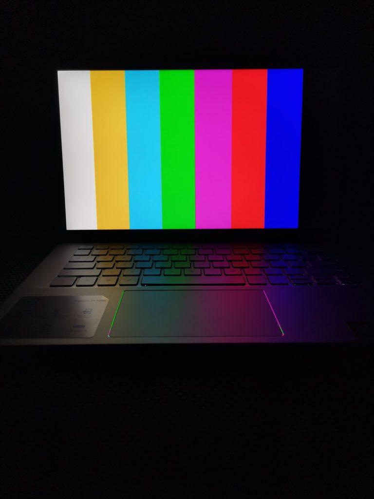 Dell 5401 ekran kolory
