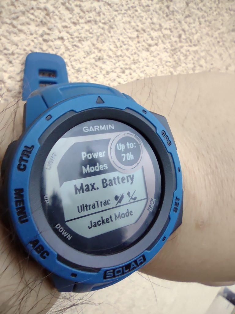 garmin instinct solar max battery