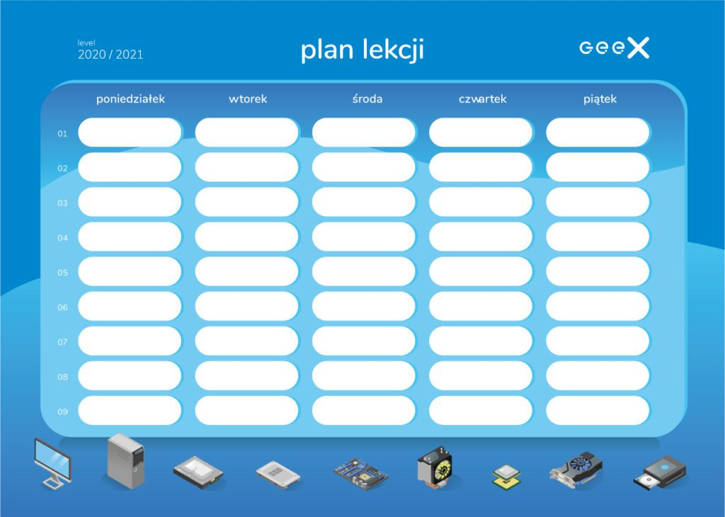plan lekcji komponenty