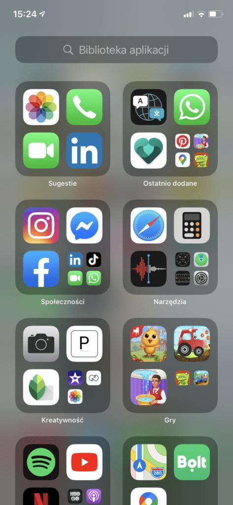 iOS14 - biblioteka aplikacji