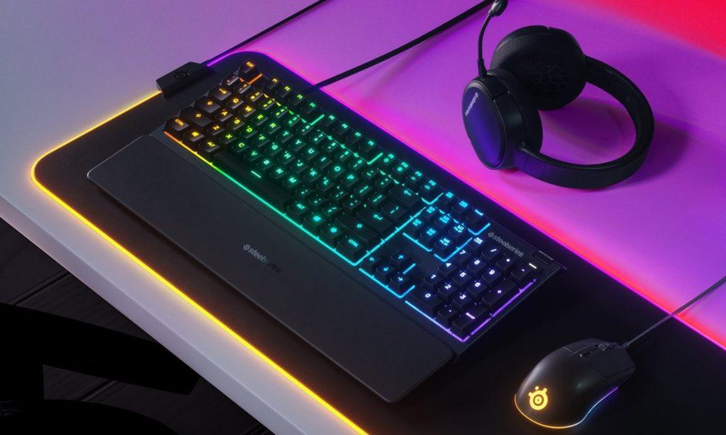 klawiatura ergonomiczna podświetlana