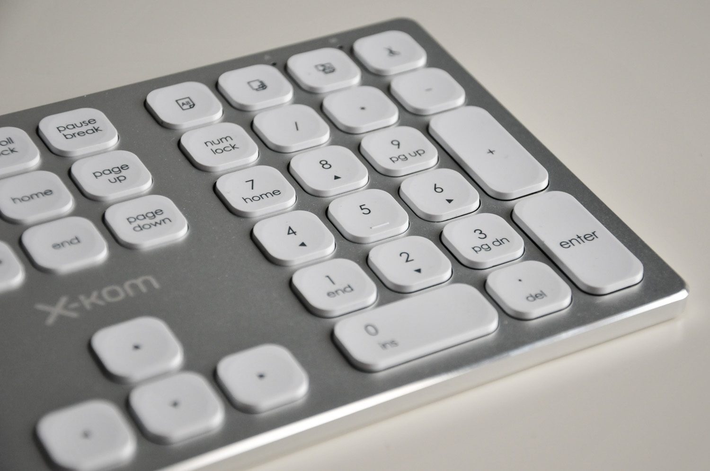 klawiatura bezprzewodowa z blokiem numerycznym