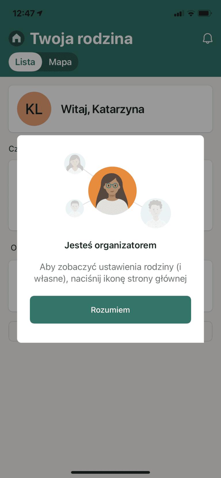 organizator - Family Safety