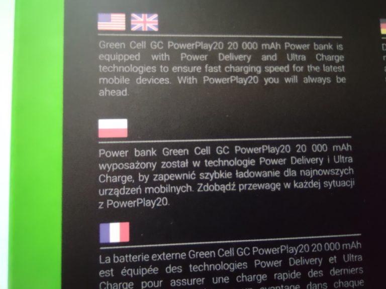 powerplay 20 tył pudełka po polsku