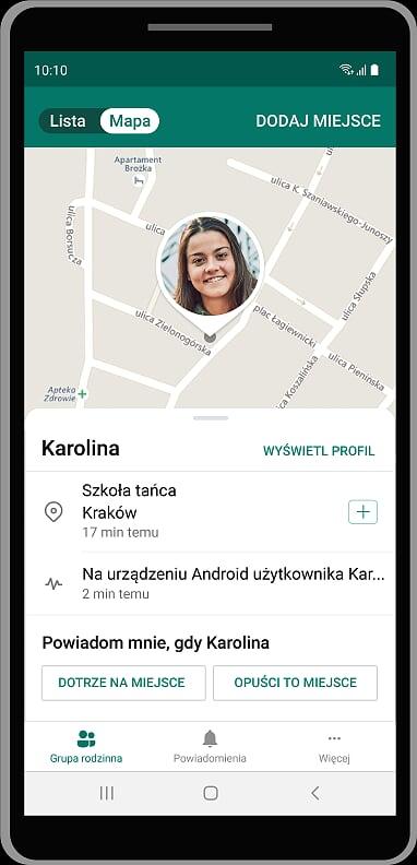 śledzenie lokalizacji - aplikacja Family Safety