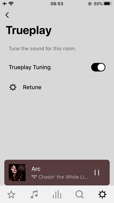 sonos arc ekran aplikacji