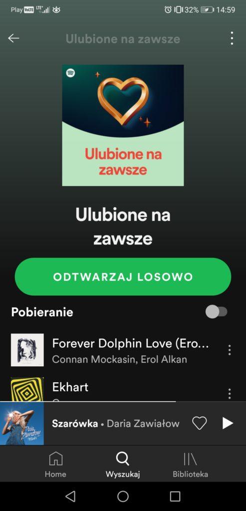 Ulubione na zawsze Spotify