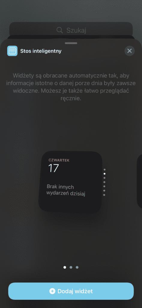 widżety iOS 14