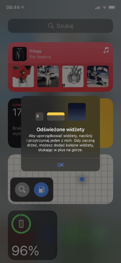 widżety iOS14