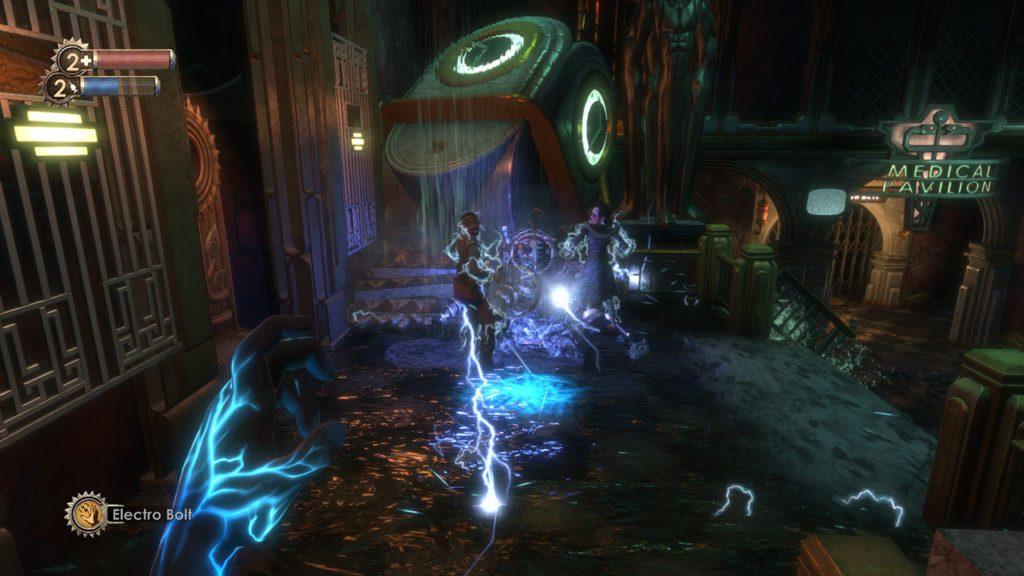 BioShock Rażenie prądem plazmidy