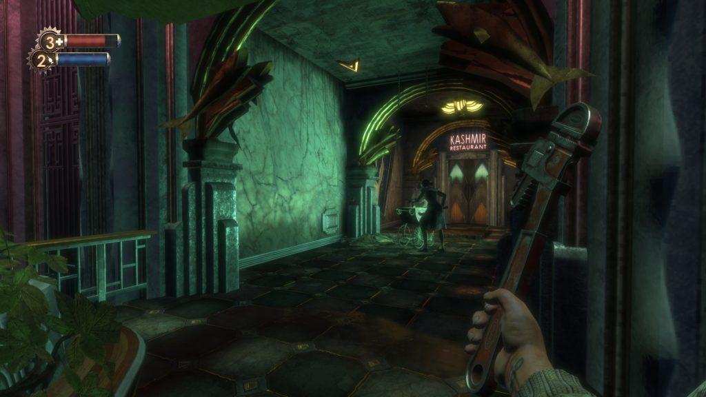 BioShock klucz francuski pierwsza broń