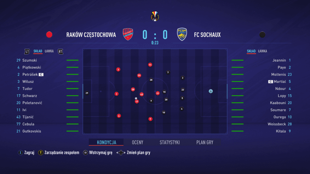 FIFA 21 symulacja spotkania