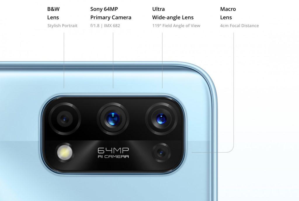 Realme 7 Pro aparaty w telefonie