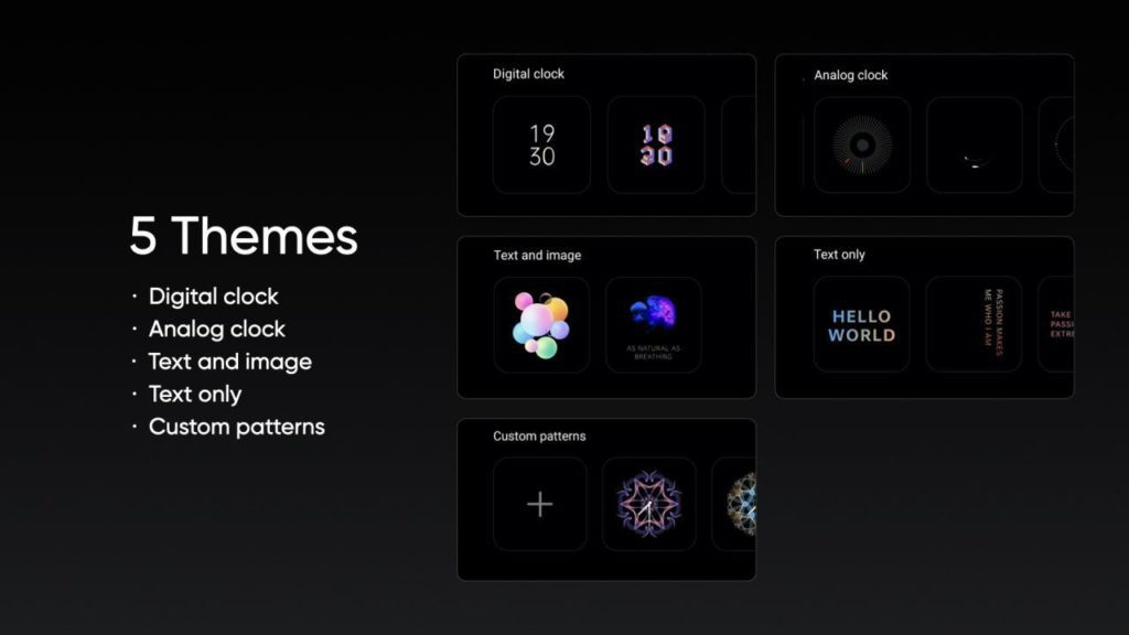 Realme UI 2.0 Ekran zawsze aktywny