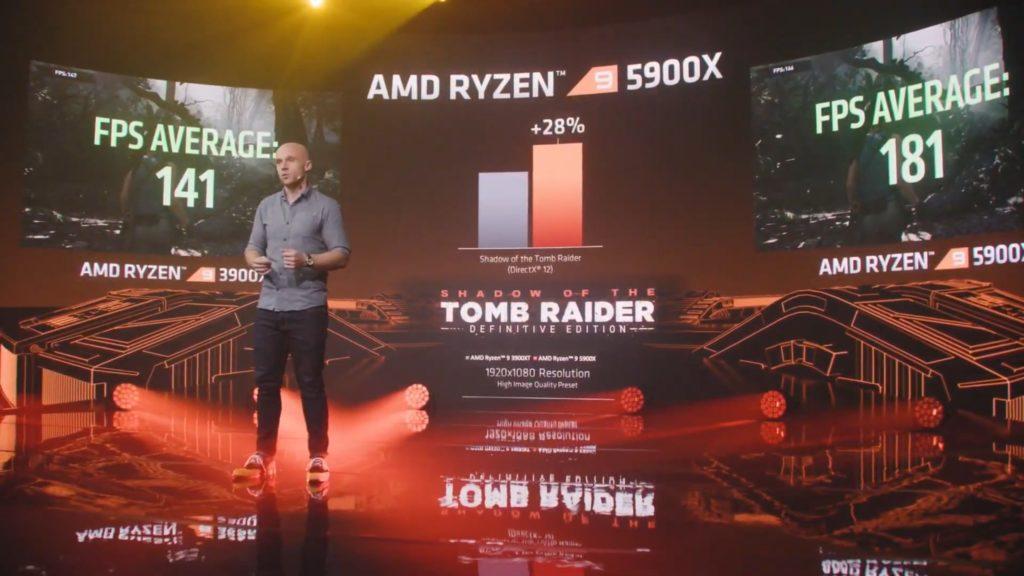 Ryzen 9 3900x vs Ryzen 9 5900x shadow of the tomb raider