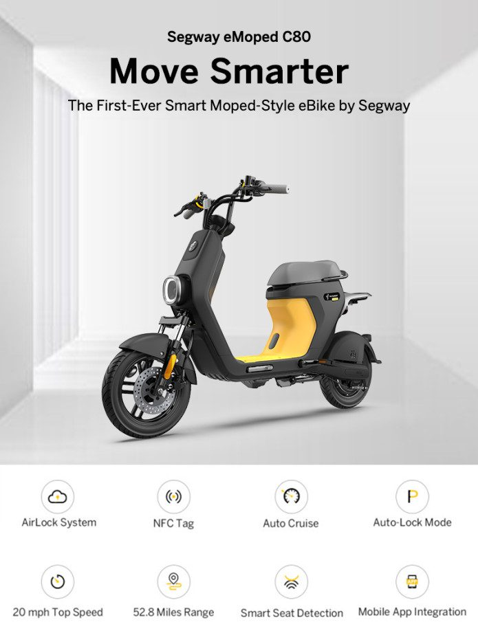 Segway eMoped C80 rower elektroniczny