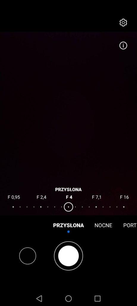 tryb zdjęć przysłona huawei p smart 2021